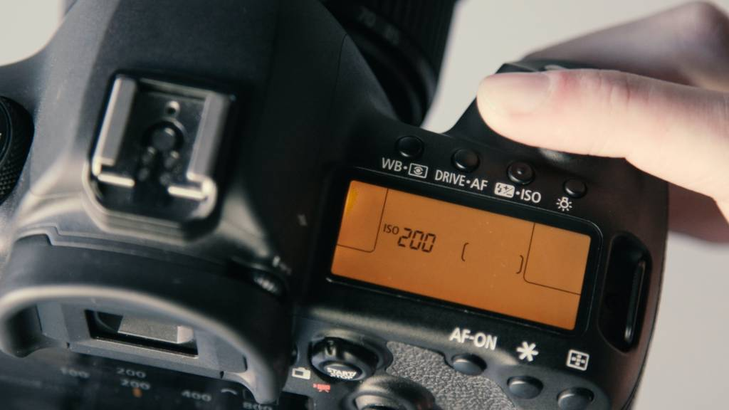 ISO display on a DSLR