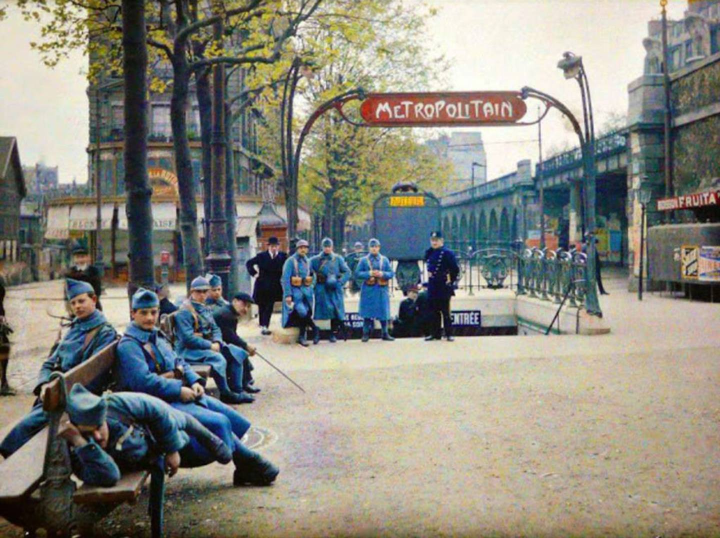 Parisien Metro in 1914