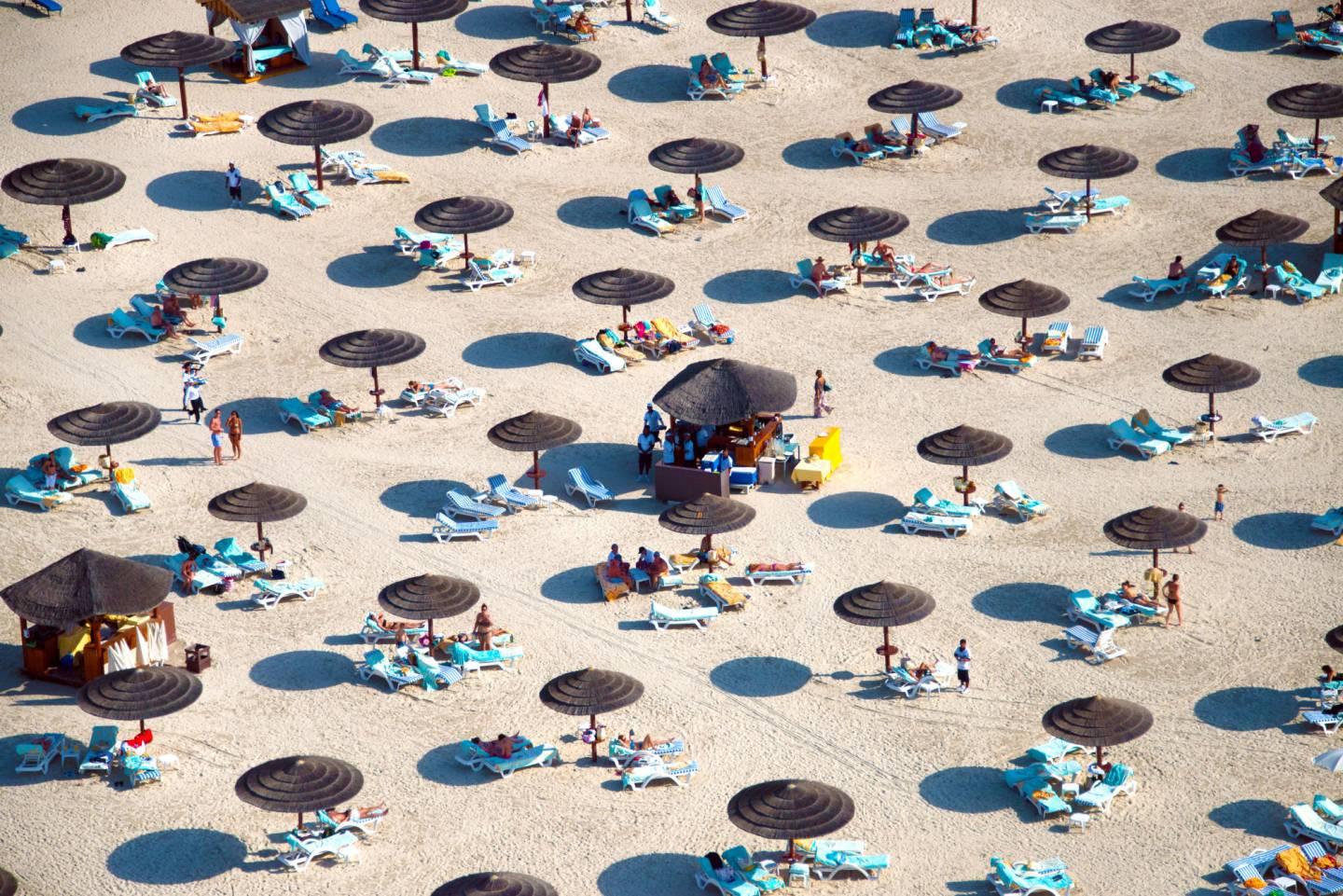Beaches from above by Bernhard Lang
