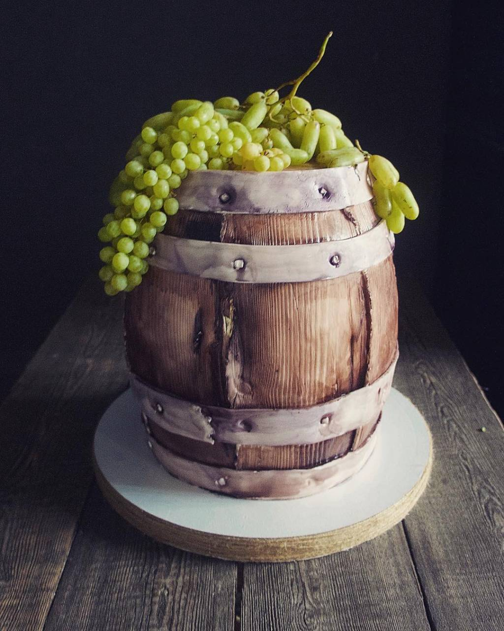 Elena Gnut Wine Barrel Cake