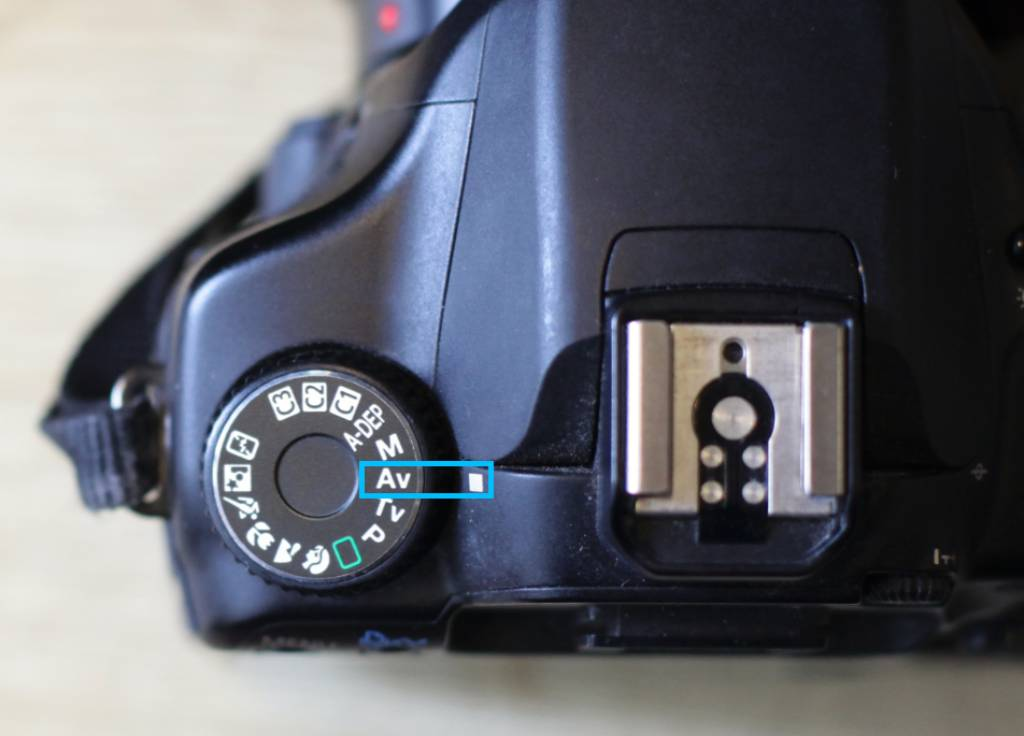 Aperture priority mode on a Canon