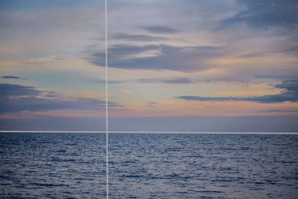 Sky and ocean photographic composition