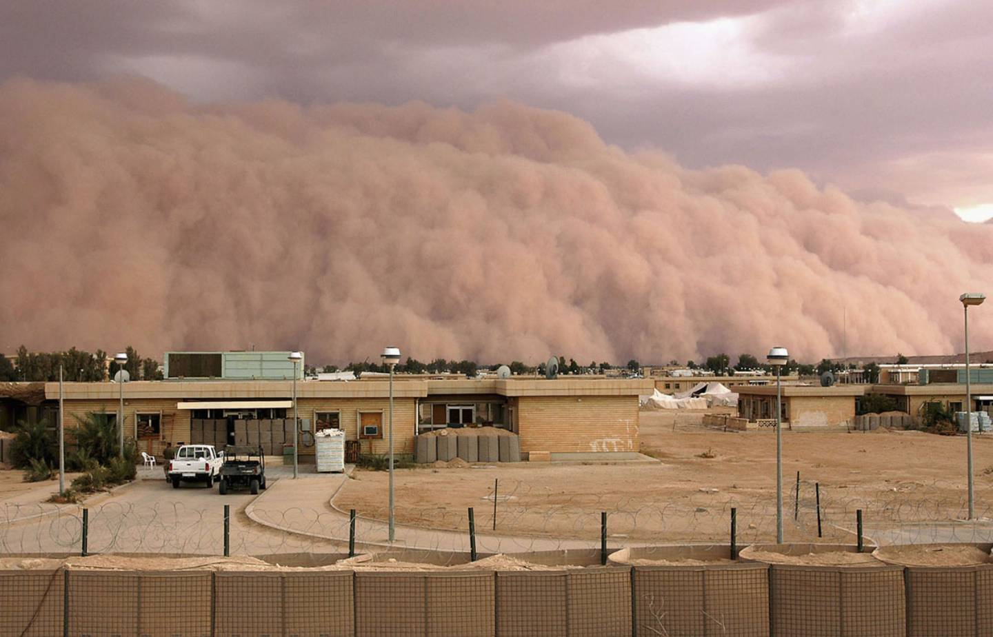 Sandstorm In the Desert of Iraq