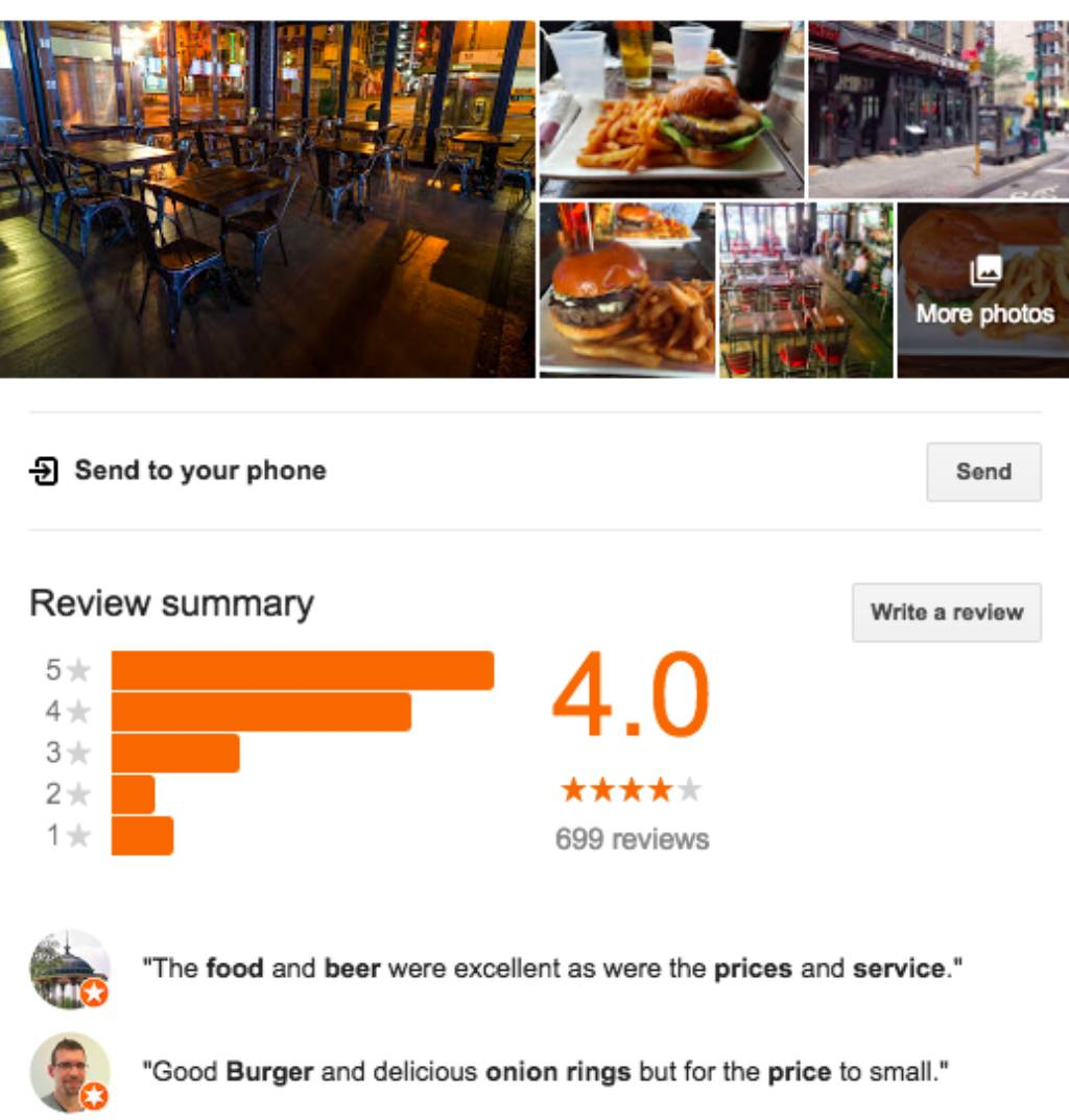 Google search Iron Bar and Lounge review]