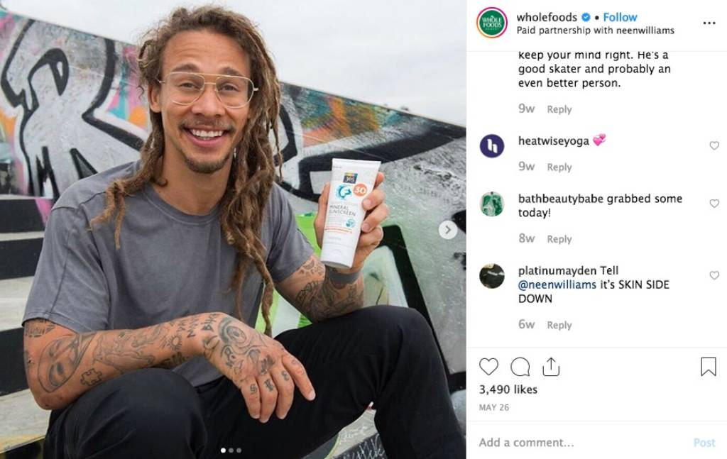 Whole Foods Instagram Paid Partnership