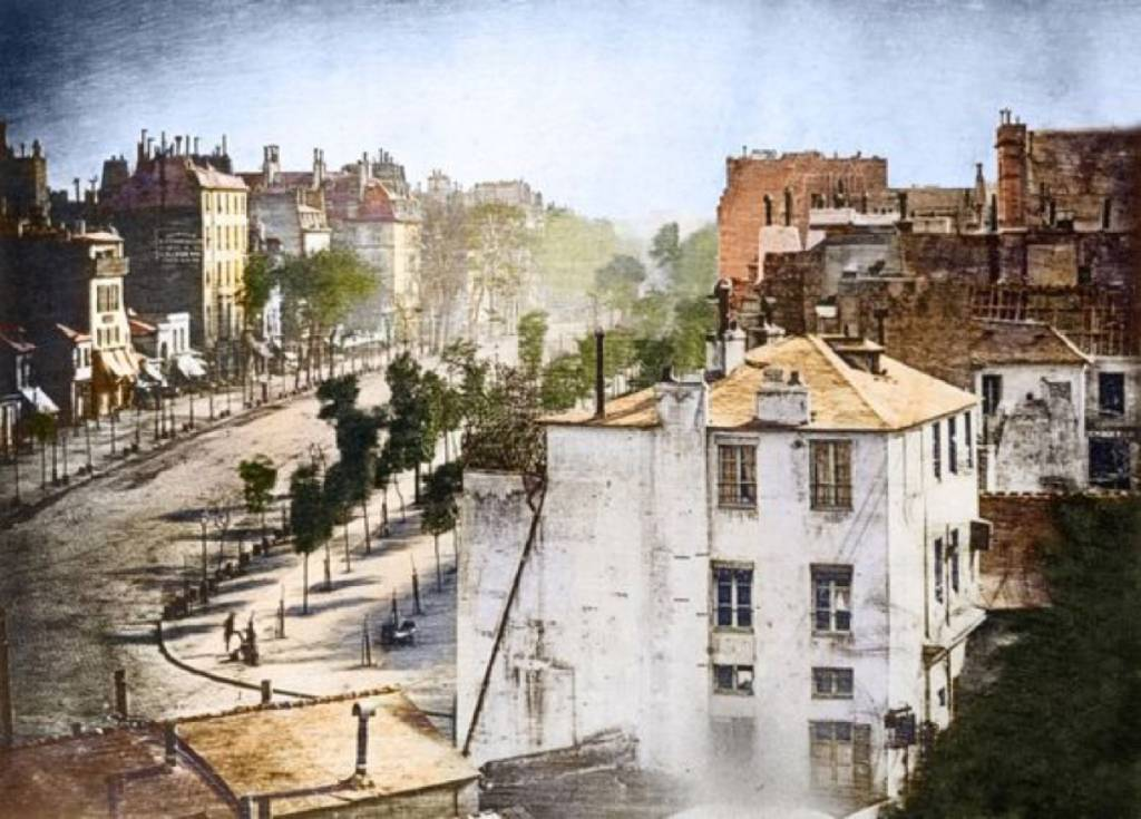 Louis Daguerre's Colorized photograph