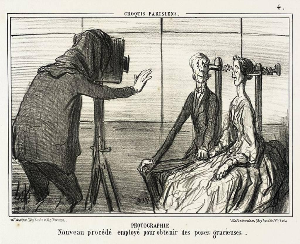 Caricature des portraits photos par Honoré Daumier