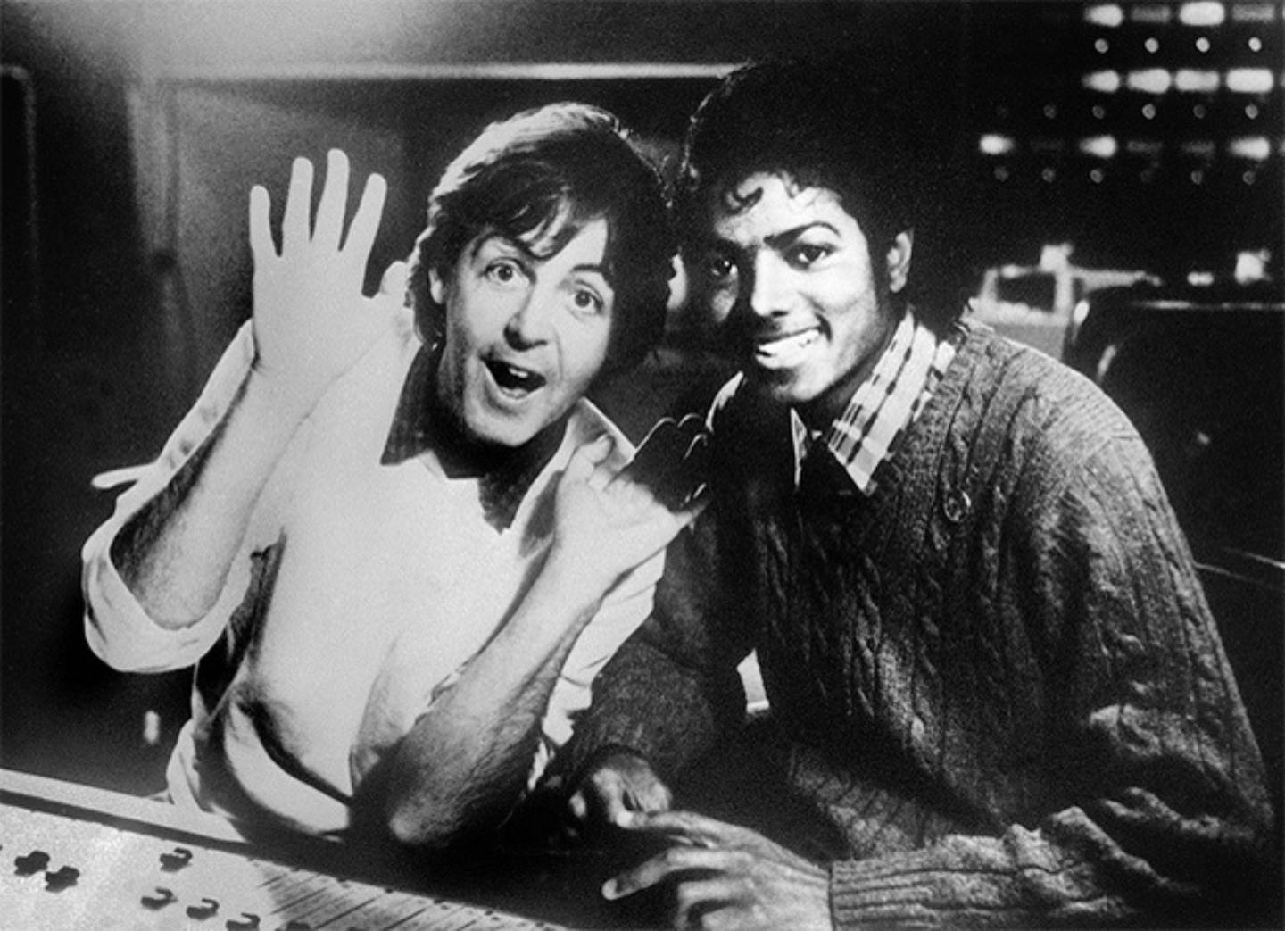 Michael Jackson and Paul McCartney in the studio 1983