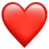 Emoji red heart