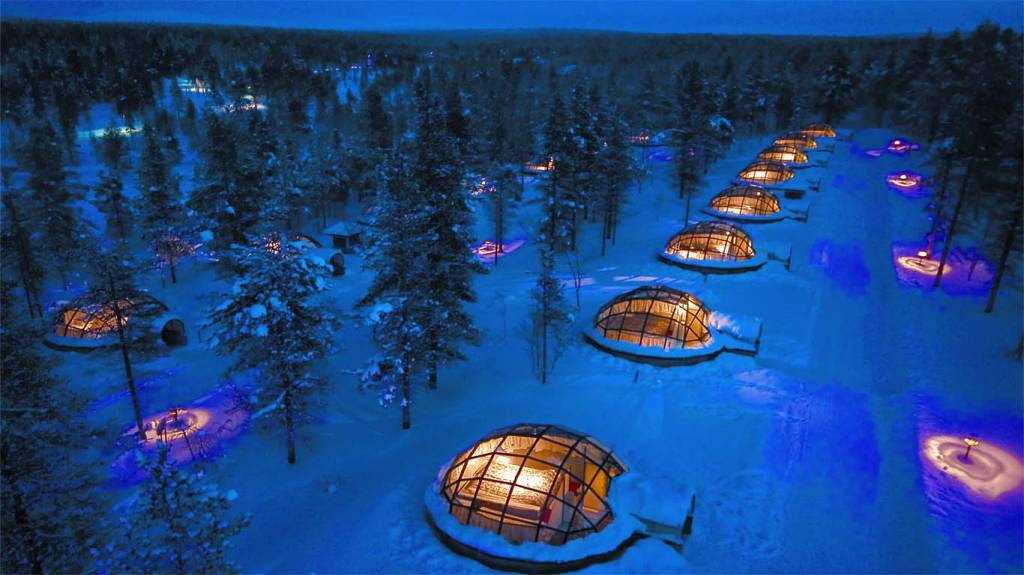 sleep in a glass igloo