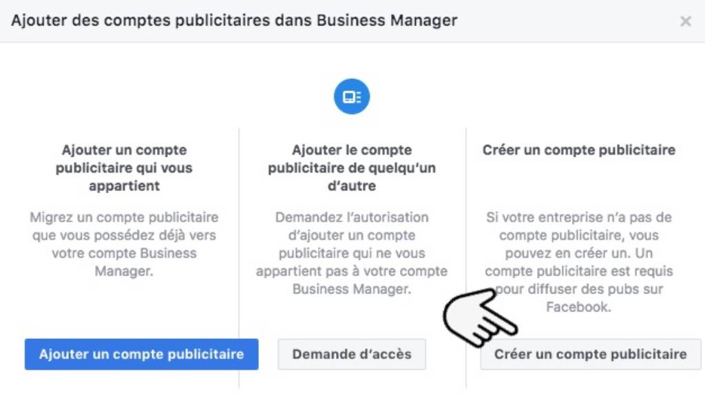 Ajouter pub Facebook Business Manager