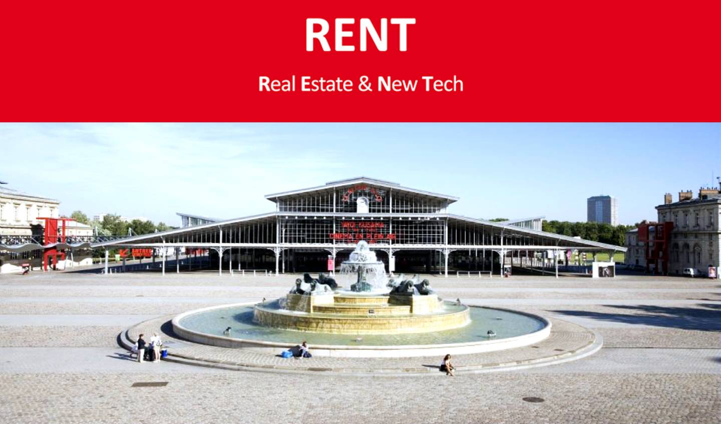 Photo de la Gande Halle de la Villette où avait lieu le salon RENT
