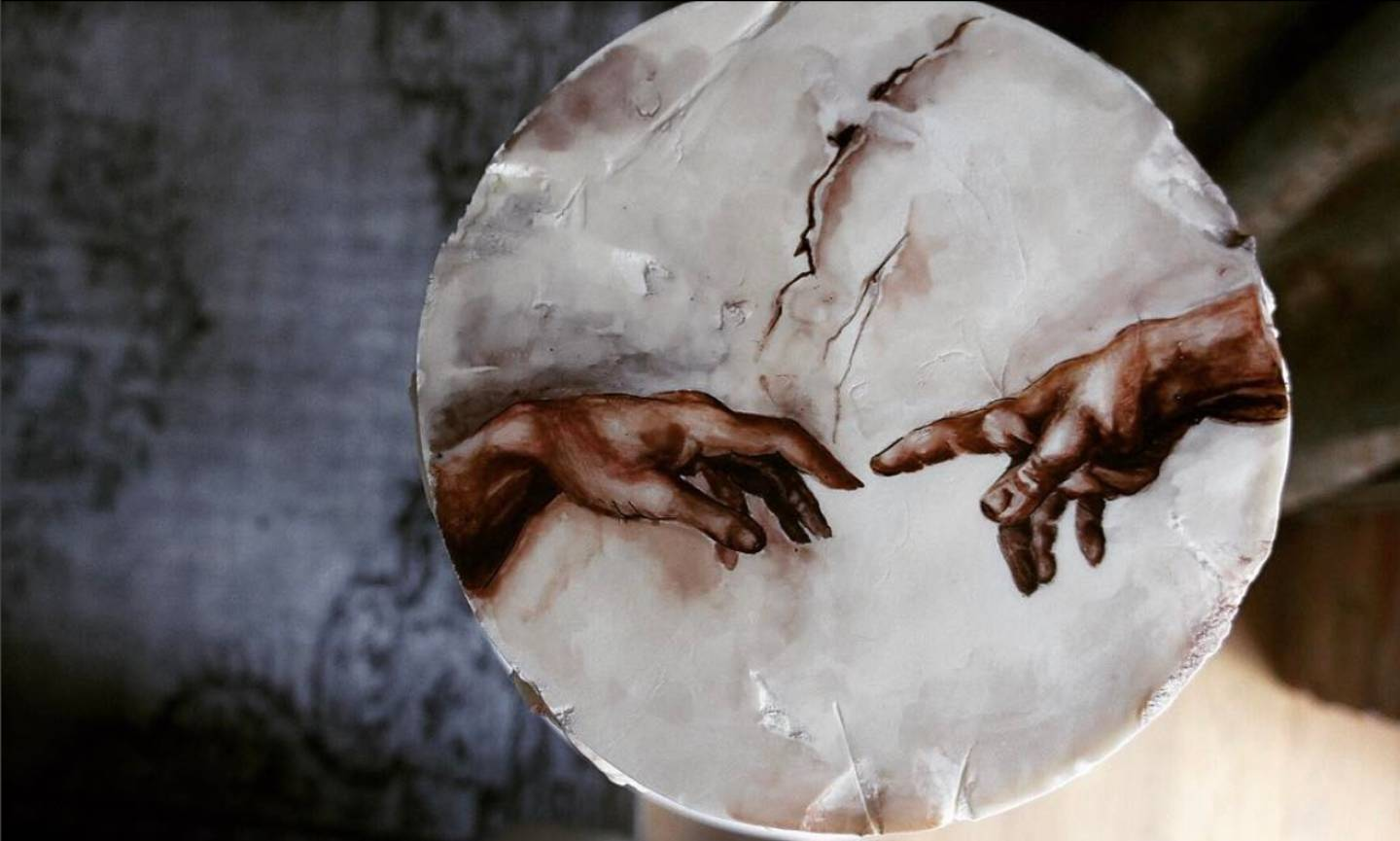 The Creation of Adam painting by Michelangelo