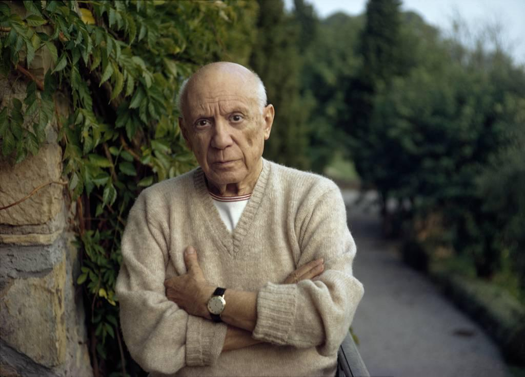 photo of  Pablo Picasso, Mougins, France, 1967